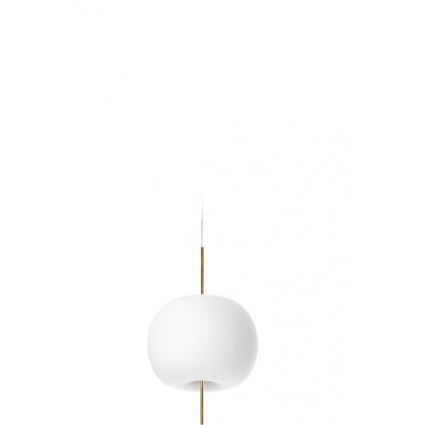 Kushi 33 lampada a sospensione diffusore in vetro opale incamiciato e soffiato Fluo 30W E27