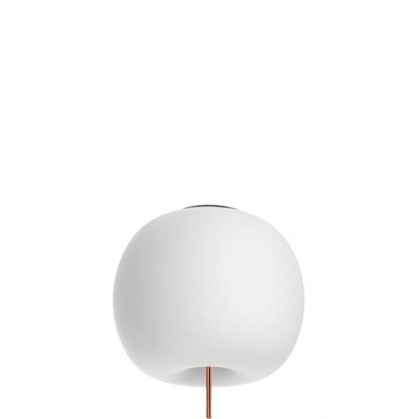 Kushi 33 lampada da soffitto/parete diffusore in vetro opale incamiciato e soffiato Led 25W 2700K