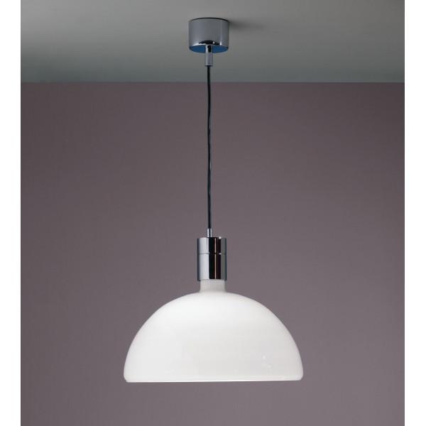 AM4C Diffuseur de lampe à suspension en verre opale blanc 250W E27