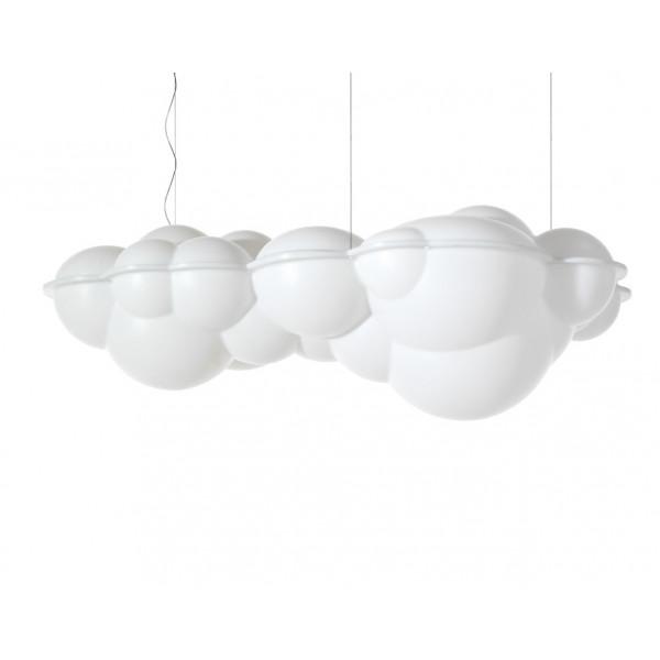 Lampe à suspension Nuvola en polyéthylène opale naturel 144W 2700K