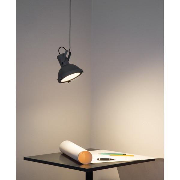 Projecteur 165 lampada a sospensione corpo in alluminio verniciato 23W E27