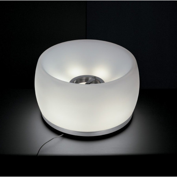 Sirius Table lamp diffuser in opal white triplex blown glass 40W G9