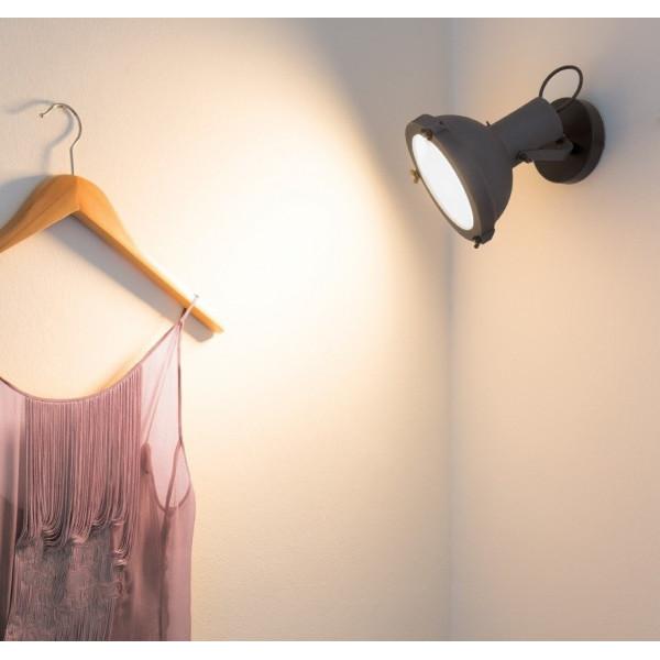 Projecteur 165 lampada da parete corpo in alluminio verniciato 23W E27
