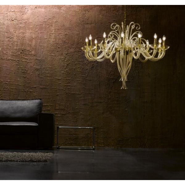 6014 K12 lampada a sospensione in vetro di Murano