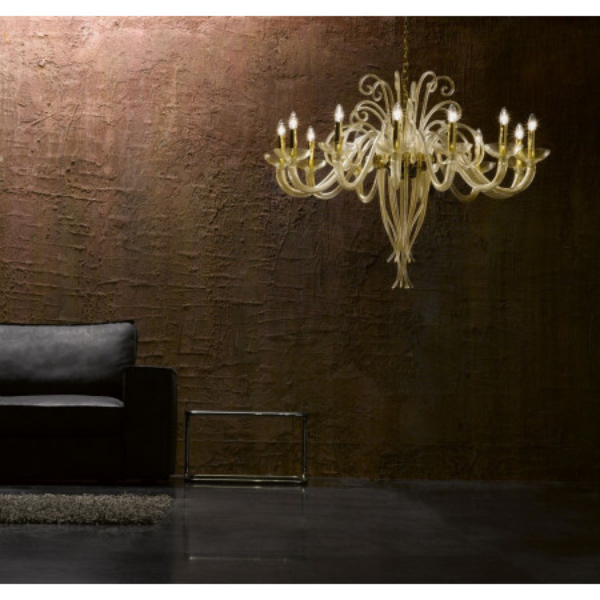 6014 K12 Suspension lamp in Murano glass