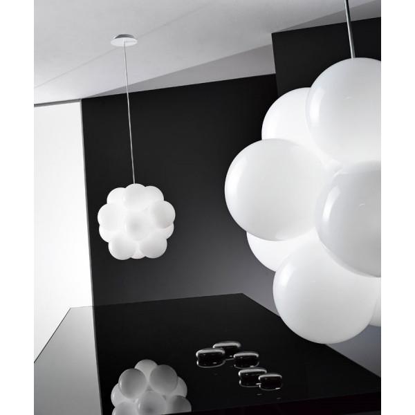 Babol S Suspension diffuseurs en verre blanc brillant 20W G9