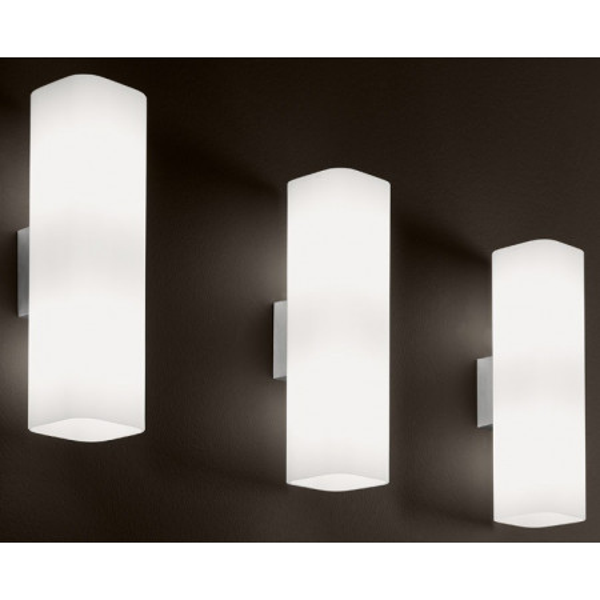 Carrè AG Wall lamp satined white glass shade 77W E27