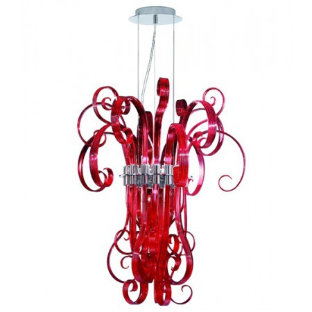 Ciocca S6 red Suspension lamp exposed in showroom only 1 piece