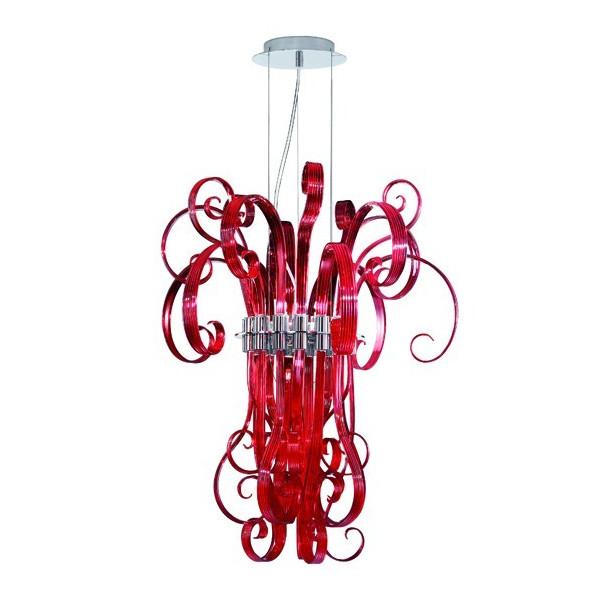 Lampe à suspension rouge Ciocca S6 exposée dans la salle d'exposition seulement 1 pièce