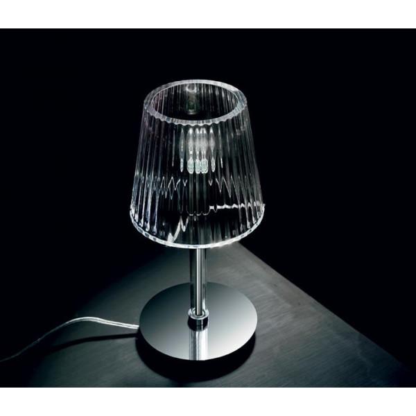 Diffuseur de lampe de table Lumè L1 en verre cristal soufflé 46W E14