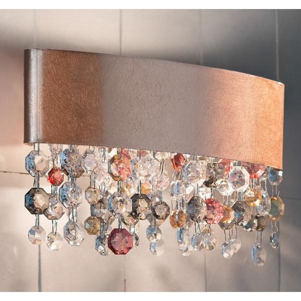 Olà A1 OV 30 lampada da parete struttura in metallo verniciato e pendagli in vetro verniciato 80W R7s