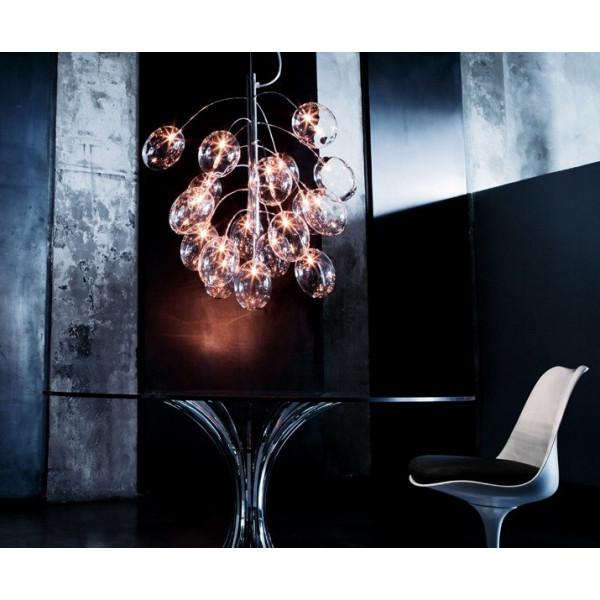 Pro Secco S13D Diffuseur de lampe à suspension en cristal de verre borosilicaté 20W G4
