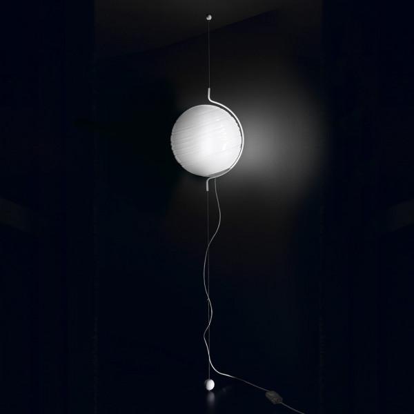 Diffuseur de lampe à suspension Stratosfera SV40 en verre blanc brillant 150W E27