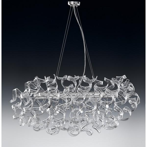 Astro Ø 90x60 Lampe à suspension cadre chromé 40W G9