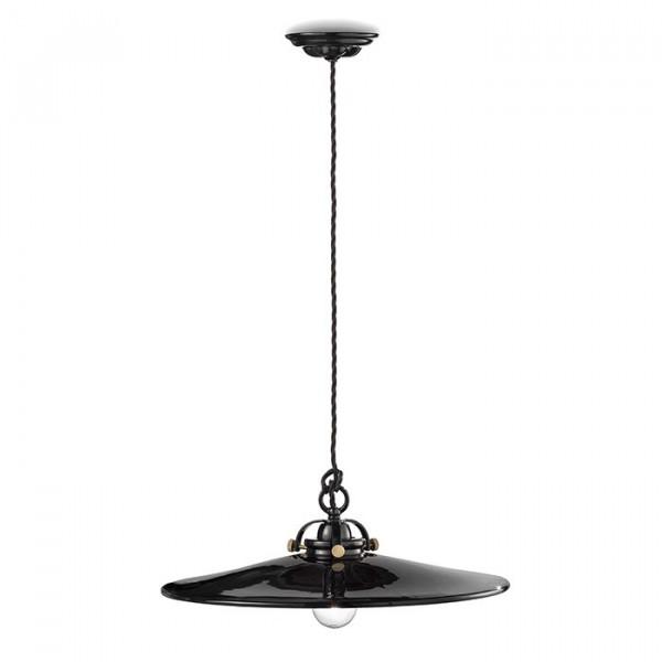Lampe à suspension noire et blanche C102 53W E27