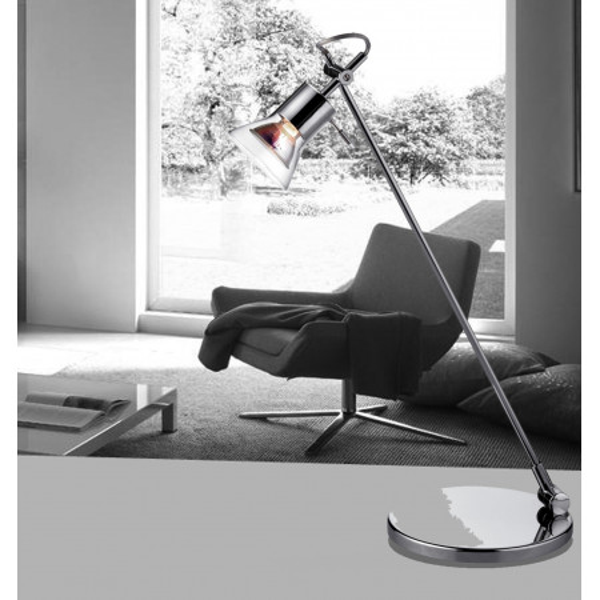 Houston lampada da tavolo in metallo e riflettore in vetro trasparente 50W GU10