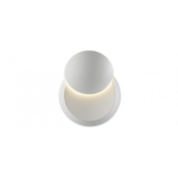 Eclis lampada da parete IP54 corpo in alluminio verniciato in bianco opaco e schermo in materiale plastico Led 4W 3000K