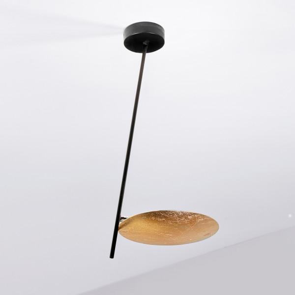 Lederam C1 lampada da soffitto asta e base in metallo e disco in alluminio Led 17W 2700K