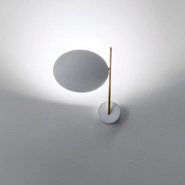 Lederam WB1 lampada da parete asta e base in metallo e disco in alluminio Led 17W 2700K