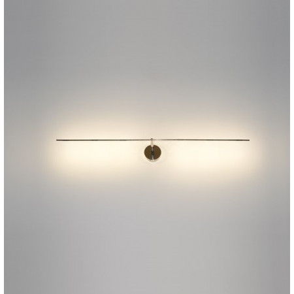 Light Stick 61 applique / plafonnier base et structure en nickel et tige en métal nickelé Led 1W 2700K