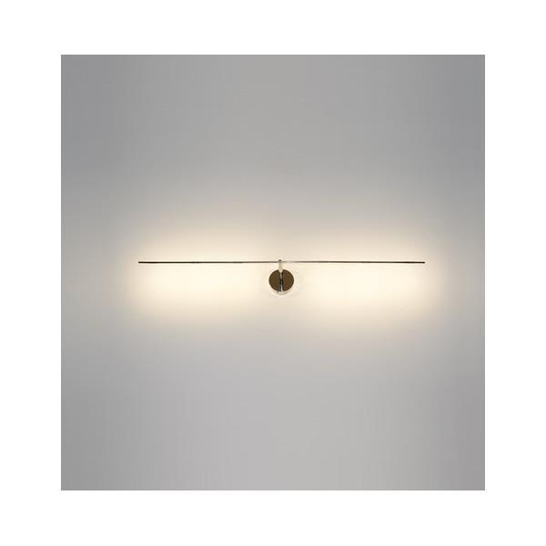 Light Stick 61 lampada da parete/soffitto base e struttura nickel e asta in metallo nichelato Led 1W 2700K