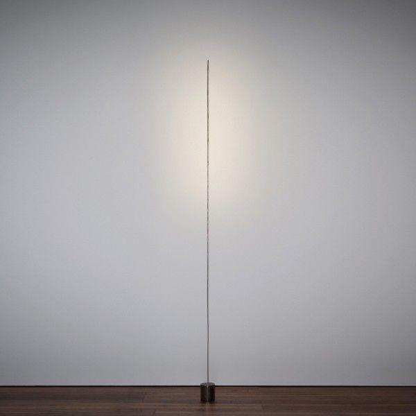 Lampadaire Light Stick 10 avec base en métal bruni et tige en cuivre nickelé Led 1W 2700K