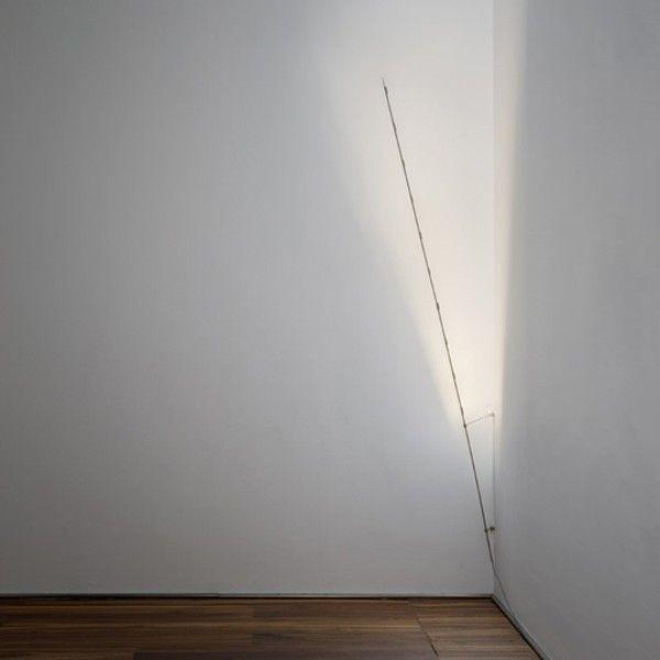 Light Stick P.T. lampada da parete asta in rame nichelato Led 1W 2700K