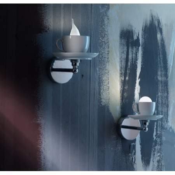 Cappuccino 15/AP lampada da parete diffusore in ceramica