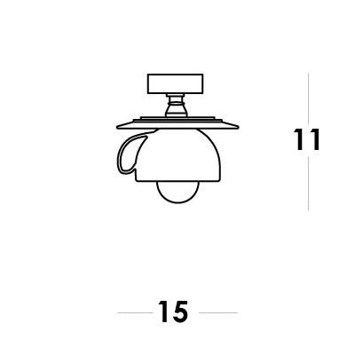 Vesoi , CAPPUCCINO 15 / PL, Plafond