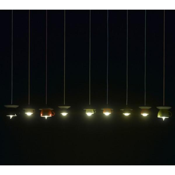 Lampe à suspension Cappuccinomaxi 17 / SO avec diffuseur en céramique