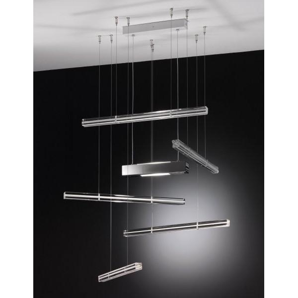 SP Explo 5 lampada a sospensione barre in vetro di Murano 120W R7s