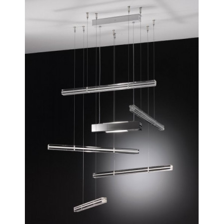 SP Explo 5 Suspension lamp Murano glass bars 120W R7s