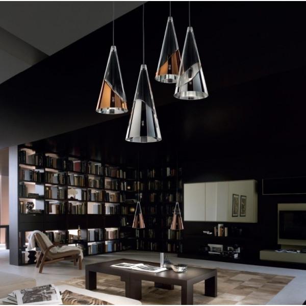 Albachiara SP 1016/3x15 Suspension lamp in blown glass 48W G9
