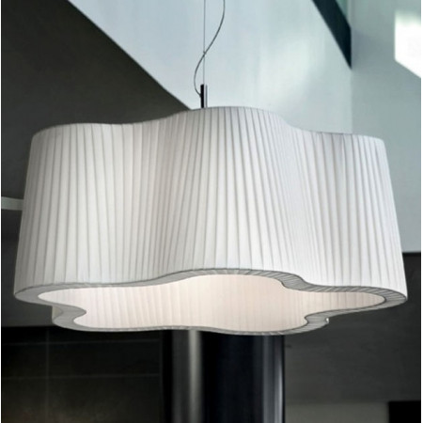 L'Avana SP 8/504 lampada a sospensione diffusore in tessuto 77W E27