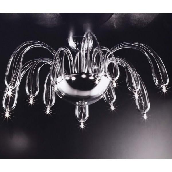 Redentor LS 4/254 lampada da soffitto in vetro soffiato 14W G4