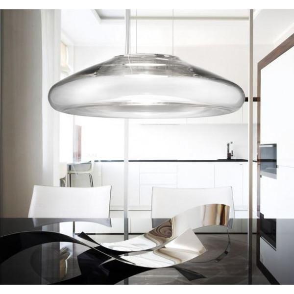 Diffuseur de lampe à suspension Keyra S 60 en verre soufflé LED 13W 3000K