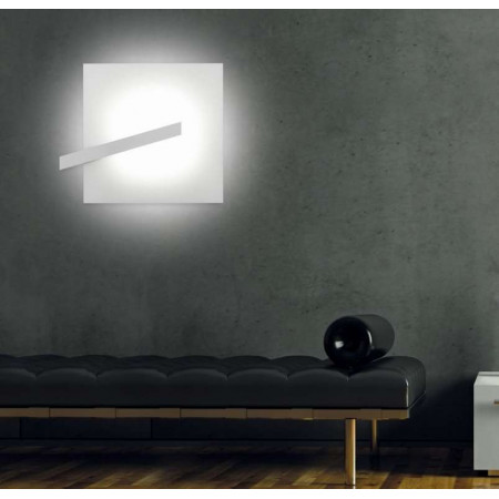 Oreventi 32 Wall lamp in white serigraphed glass Led 10W 3000K