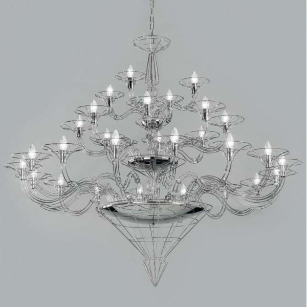 Dedalo 28 lights Suspension lamp metal frame 40W E14