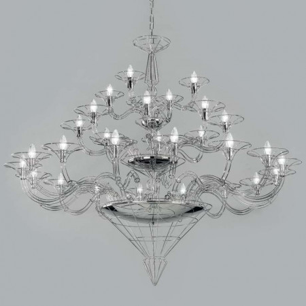 Dedalo 28 lumières Lampe à suspension structure métallique 40W E14