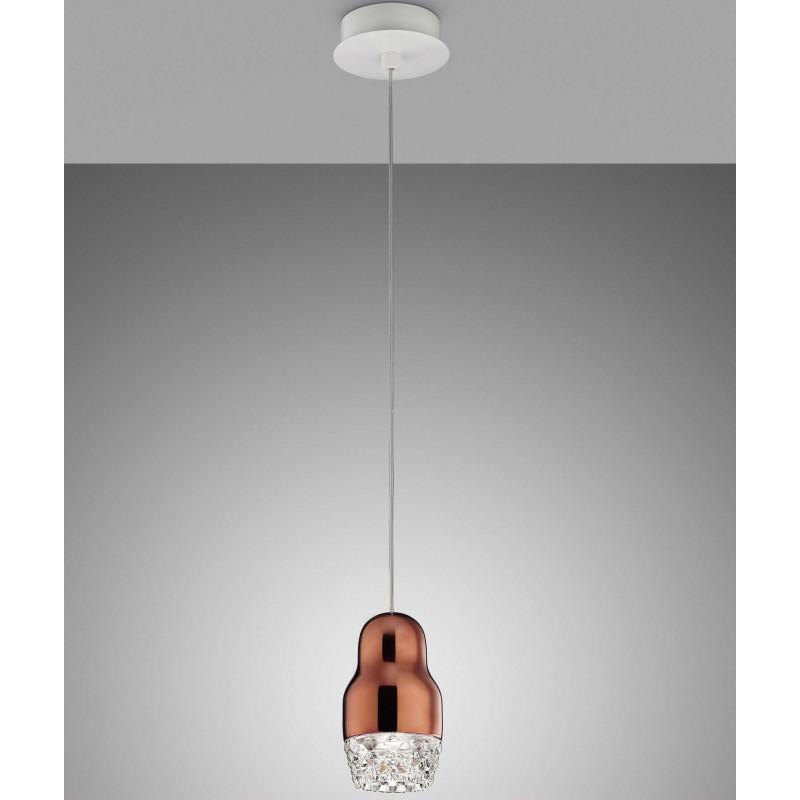 Lampadario Sospensione Vetro Trasparente.Lampada A Sospensione Axo Light Fedora 1 Vellini