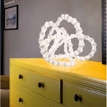 Abyss Table lamp in opal polycarbonate Led 10W 3000K