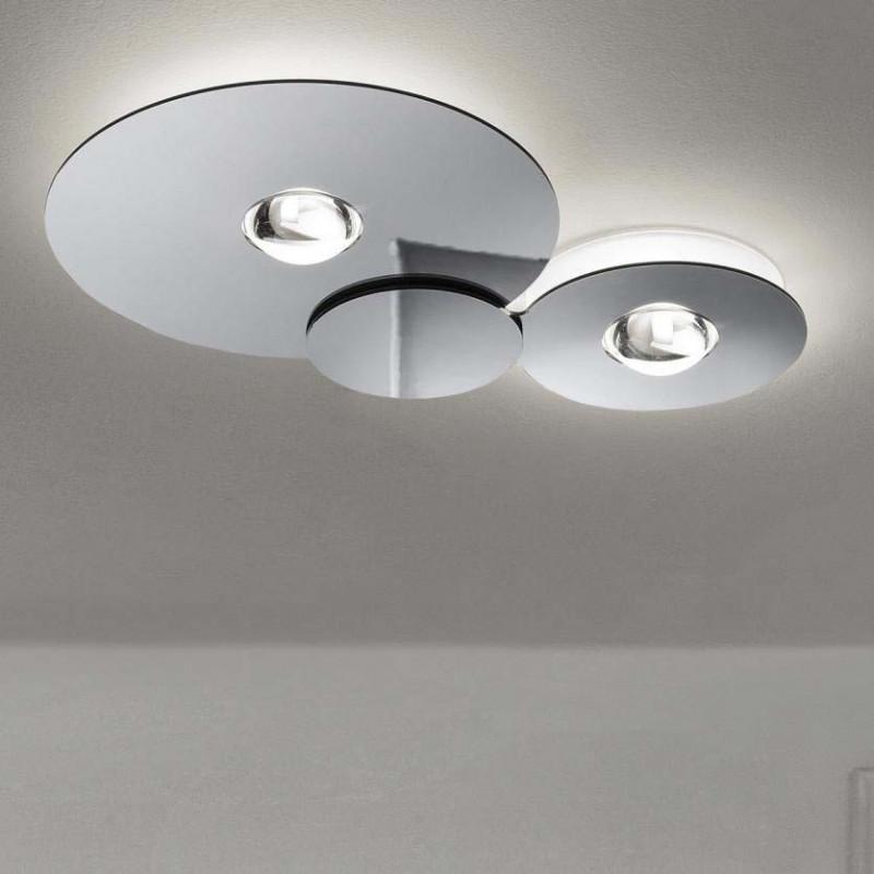 Lampade A Soffitto Led.Lampada Da Soffitto Studio Italia Design Bugia Double Vellini