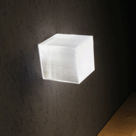 Beetle Mini Cube Wall/Ceiling lamp polycarbonate diffuser Led 17W 3000K
