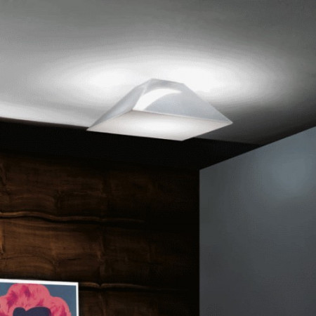 Beetle Small Pyramid Wall/Ceiling lamp polycarbonate diffuser Led 17W 3000K
