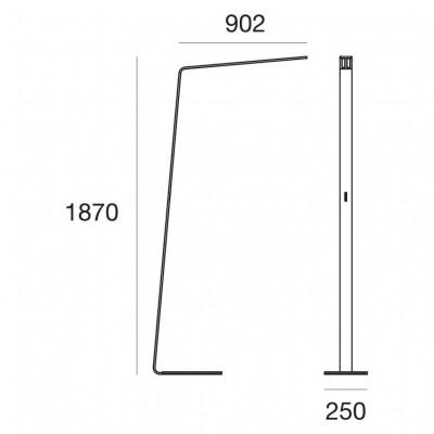 Lama 7100 Floor lamp aluminum frame Led