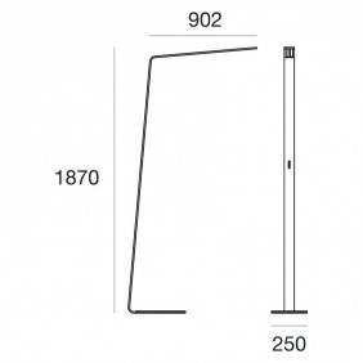 Lama 7100 lampada da terra struttura in