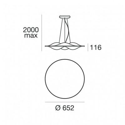 Circle Wave 7462 lampada a sospensione