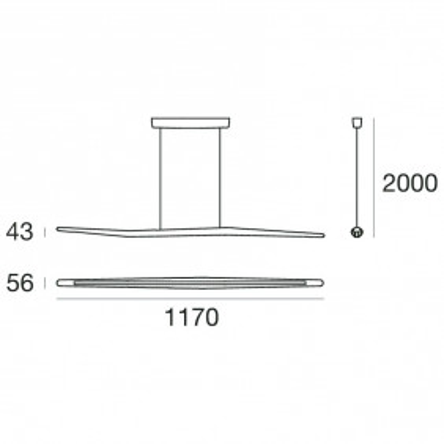 Branch Suspension lamp aluminum frame