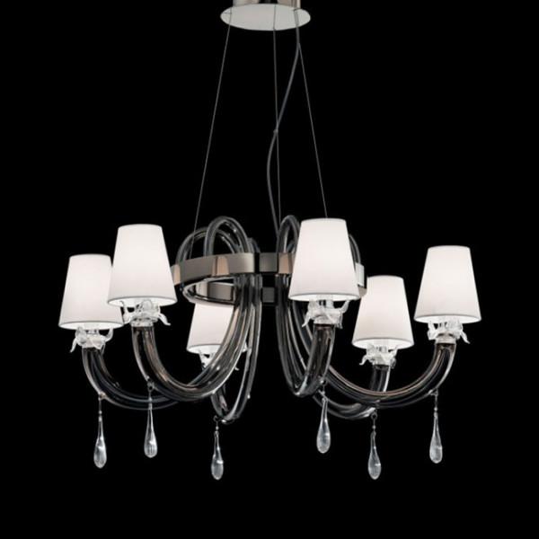 8090 K6 lampada a sospensione in vetro di Murano 46W E14