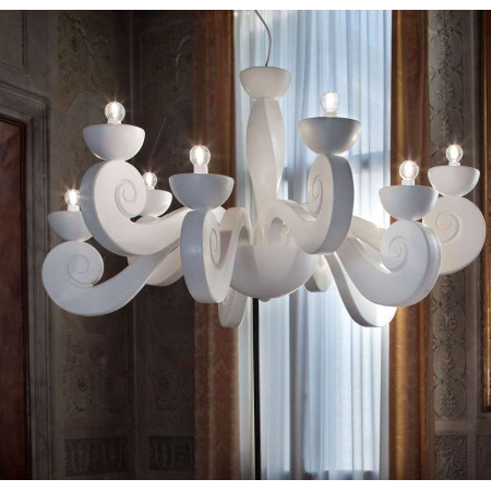 Botero S8+8 Suspension lamp arms and cups made of polyurethane foam 60W E27